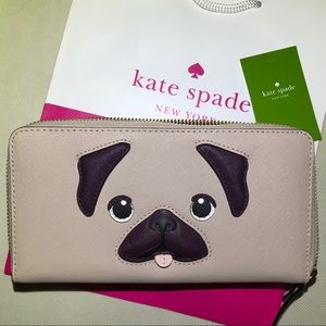 Kate Spade Year of The Dog zip around wallet